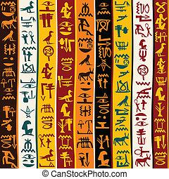 カラフルである, 象形文字, 背景, エジプト人