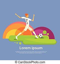 カラフルである, 運動選手, フットボール, 競争, プレーヤー, スポーツ, 旗