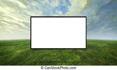 カラフルである, 野生, 概念, の, tv, 白