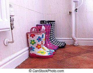 カラフルである, 雨ブーツ