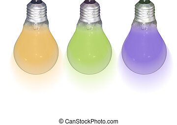 カラフルである, 電球, ライト