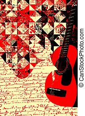 カラフルである, 音楽, ギター, イラスト