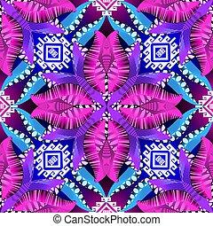 カラフルである, meander., 種族, 形, 装飾用である, 装飾用, 現代, 繰り返し, 民族, ギリシャ語, seamless, 白熱, ベクトル, pattern., 形態, 数字, ornament., 花, 花, 抽象的, キー, 背景。, 幾何学的, バックグラウンド。