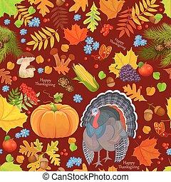 カラフルである, seamless, 手ざわり, ∥で∥, 秋, elements., 幸せ, thanksgivi
