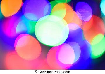カラフルなライト, 抽象的, bokeh, 焦点がぼけている, 背景