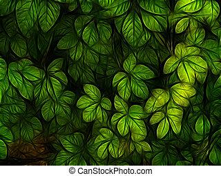 カラフルな葉群