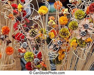 カラードの背景, -, コレクション, 人工, かなり, 花
