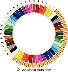 カラードの鉛筆, できる, a, フレーム