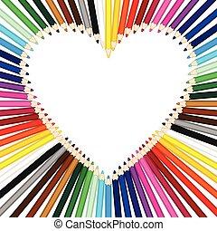 カラードの鉛筆, できる, a, 心