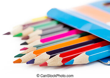 カラードの鉛筆, インボックス, 打撃, ∥で∥, 選択的な 焦点