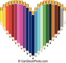 カラードの鉛筆, 心