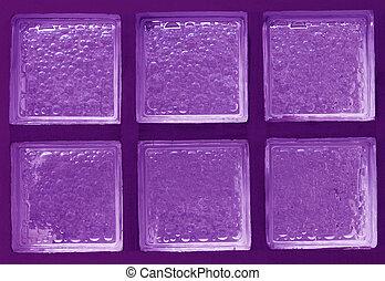 カラーブロック, ガラス