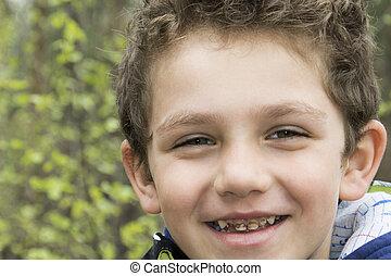 カリエス, teeth., 男の子