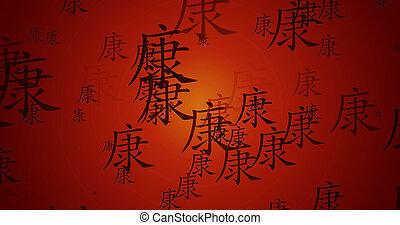 カリグラフィー, 健康, 中国語, 背景