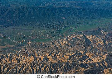 カリフォルニア, andreas, 航空写真, san, 光景