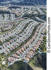 カリフォルニア, stevenson, 牧場, 空中写真