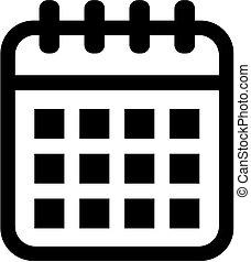 カレンダー, アイコン