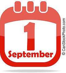 カレンダー, アイコン, 日々, 知識
