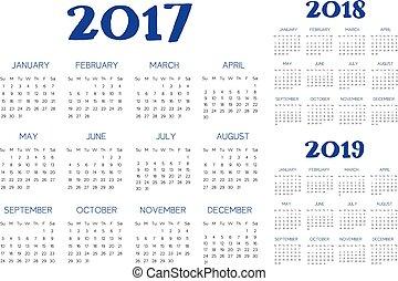 カレンダー, ベクトル, 英語