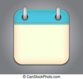 カレンダー, ベクトル, app, アイコン