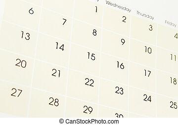 カレンダー, ページ
