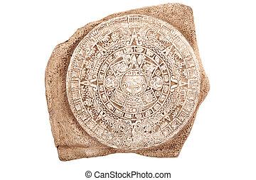 カレンダー, 古代, 隔離された, aztec