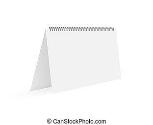 カレンダー, 壁, spring., illustration., ブランク, ベクトル