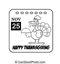 カレンダー, 感謝祭, 幸せ