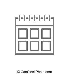 カレンダー, 線, icon.