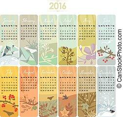 カレンダー, 2016, セット