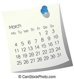 カレンダー, 3月, 2013