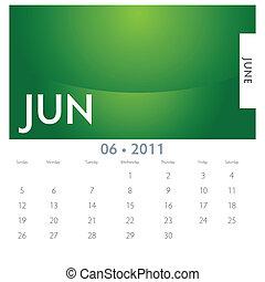 カレンダー, 6月