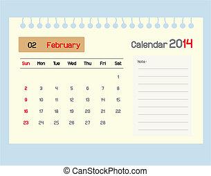 カレンダー, monthly., febru, スケジュール