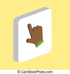 カーソル, シンボル, コンピュータ, 手