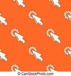 カーソル, パターン, ベクトル, 技術, オレンジ