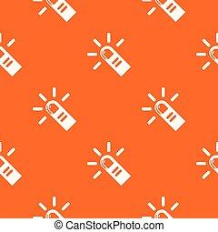 カーソル, パターン, ベクトル, 指, オレンジ