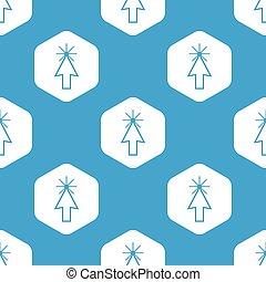 カーソル, パターン, 六角形, 矢