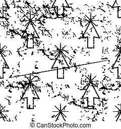 カーソル, モノクローム, 矢パターン, グランジ