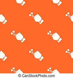 カーソル, 動き, ベクトル, パターン, オレンジ