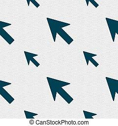 カーソル, 印。, seamless, ベクトル, 矢パターン, 幾何学的, texture., アイコン