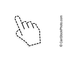 カーソル, 手