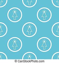 カーソル, 青い符号, 矢パターン