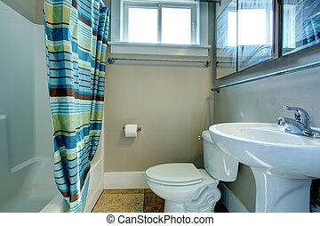 カーテン, しまのある, 浴室, 保温カバー
