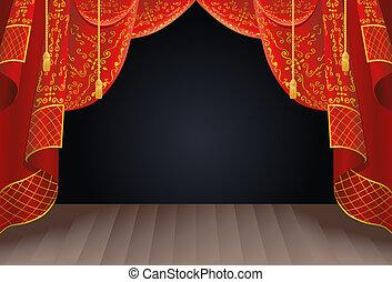 カーテン, ステージ