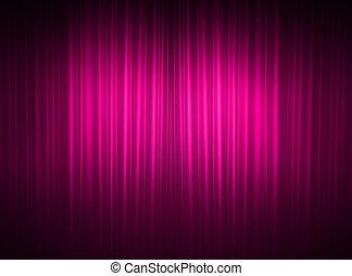 カーテン, ピンク