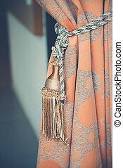 カーテン, フィルター, (vintage, used), 効果, 装飾