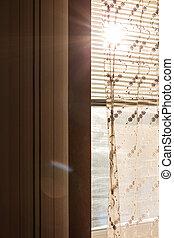 カーテン, プラスチック, 太陽は放射する, ブラインド, 窓