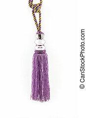 カーテン, 内部, ふさ, 装飾, 紫色