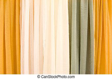 カーテン, 多色刷り, ステージ