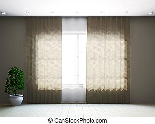 カーテン, 窓, 部屋